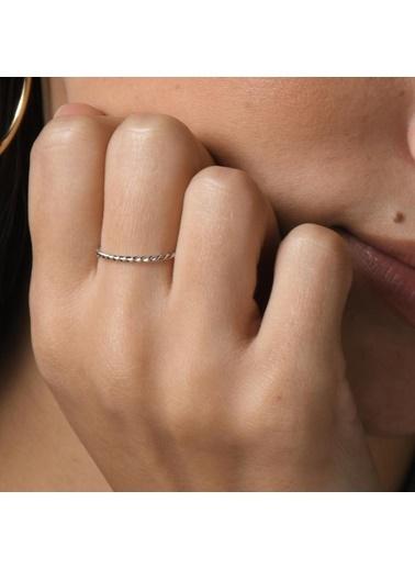 Piano Jewellery Andante Mini Burgu Altın Yüzük 14 Ayar Gümüş